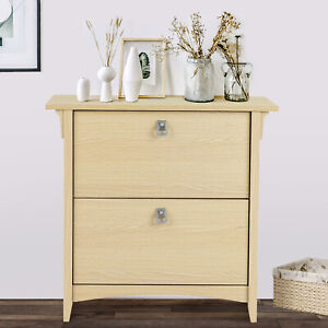 Nightstand End Table Filing Cabinet Storage With 2 Drawers Home Office Furniture