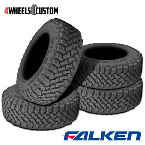4 X Falken Wild Peak M T Lt285 75r16 E 126 123q Toughest All Terrain Mud Tires
