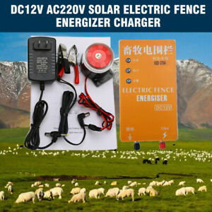 3km Electric Fence Energizer Charger For Animals Electric Fencing Controller Us