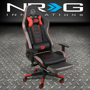Nrg Innovations Rsc g100rd Red Adjustable Office Computer Desk Gaming Chair Seat