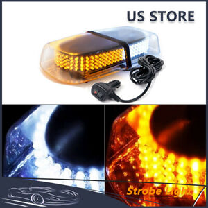 240 Led Car Emergency Warning Roof Top Strobe Snow Plow Light Amber white 12v