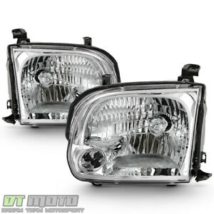 For 2005 2006 Toyota Tundra Double Cab 05 07 Sequoia Headlights Headlamps Pair