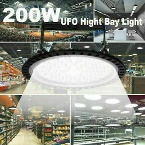 Super Bright Warehouse Led 200w Ufo High Bay Lights Factory Shop Gym Work Lamp