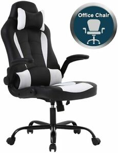 Pc Gaming Chair Ergonomic Office Chair Desk Chair With Lumbar Support Flip Up