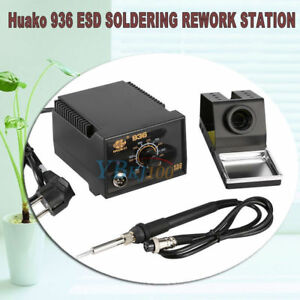 75w 110v 936 Adjustable Temperature Electric Soldering Station Kit W Iron Stand