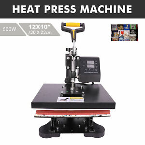 12 X 10 Heat Press 360 Degree Swivel Heat Press Multifunctional Machine