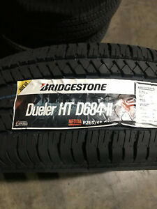4 New 265 65 18 Bridgestone Dueler H t 684 Ii Tires