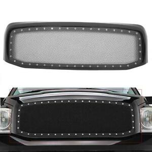 Front Hood Steel Mesh Shell Grille Grill For 2006 2008 Dodge Ram 1500 2500 3500