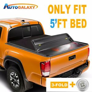 5ft Tri fold Soft Truck Bed Tonneau Cover For 2019 2020 Ford Ranger Waterproof
