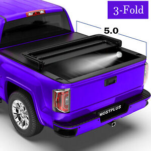 5 Ft 3 Fold Soft Tonneau Cover Truck Bed For 19 20 Ford Ranger 4 Door Pickup
