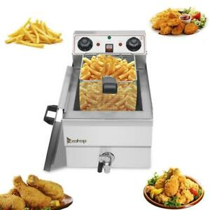 Zokop Upgrade 1700w Electric Deep Fryer Timer 12 5qt Stainless Steel Fry Basket