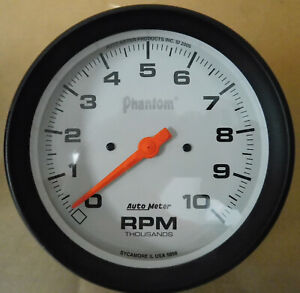Autometer 5898 Phantom Tachometer 10 000 Rpm 5 Dia Electrical Anolog