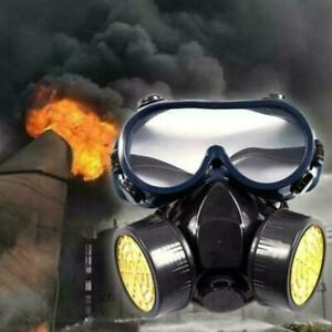 Full Face Respirator Gas Mask Goggles Comprehensive Cover For Paint Spray