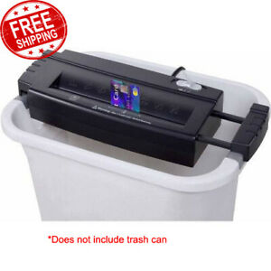 Cut Paper Shredder 6 Sheet Strip Credit Card Without Basket Commercial Office