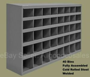 Welded Steel Pigeonhole Bins 40 Compartments Nuts Bolts Parts Fittings Shop Van