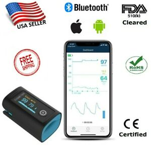 Fingertip Pulse Oximeter pi With Bluetooth Data Recording 1year Warranty