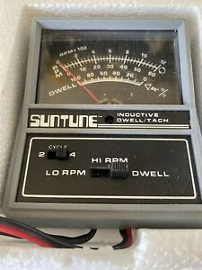 Vintage Suntune Cp7602 Inductive Dwell Tach With Box Free Shipping