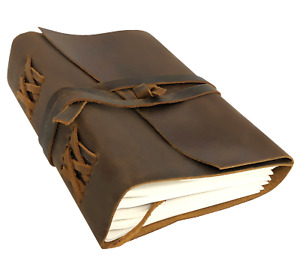Leather Bound Personal Journal diary notebook sketchbook To Write In closeout