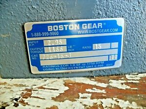 Boston Gear Shaft 1 1 8 726 15 j Ratio 15 1