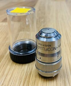 Zeiss Plan neofluar 63x Air Dry With Collar 160mm Microscope Objective