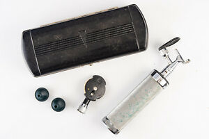 Vintage Welch Allyn Diagnostic Set Ophthalmoscope Otoscope In Bakelite Case V11