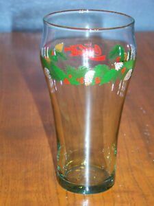 Vintage Coca Cola Glass with Christmas Wreath