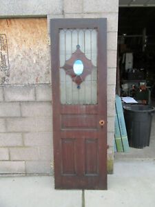Antique Stained Glass Pantry Door 25 5 X 79 25 Architectural Salvage