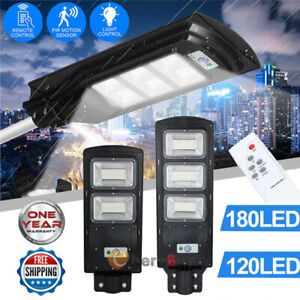 900000LM Commercial Solar Street Light LED Outdoor IP67 Dusk-to-Dawn Spotlight $54.83