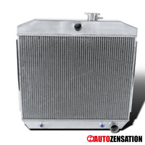 For Chevy Bel air nomad 1955 1957 3 core Full Aluminum Racing Cooling Radiator