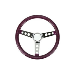 Speedway 13 Inch Silver Metalflake 60s Style Steering Wheel 3 1 2 Dish