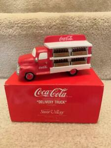 "DEPT 56 SNOW VILLAGE COCA COLA "" DELIVERY TRUCK"""