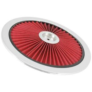 Spectre 47612 Extraflow Air Cleaner Top Red 1in Tall Round Lid