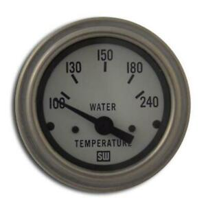Stewart Warner 82306 Wht Deluxe 2 1 16 In Elec Water Temp Gauge