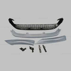 Set Front Bumper Lower Grille Center Cover W Lips Fit For 2015 2016 Ford Focus