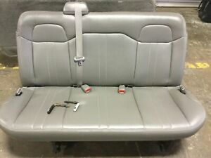 2010 Chevy Express Extended Van Oem Passenger 4th Fourth Row Bench Seat W Pins