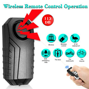 113db Wireless Anti theft Motorcycle Bike Security Alarm Remote Waterproof O2x6