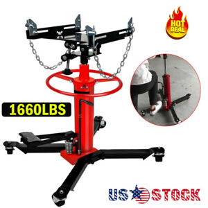 1660lbs 0 75 Ton Hydraulic Transmission Jack 2 Stage W 360 For Car Lift