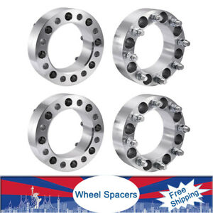 4x 2 8 Lug Wheel Spacers Adapters 8x6 5 For Chevrolet Gmc C k Nissan 1988 14