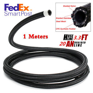 Universal An 20 20an Nylon Steel Braided Oil Fuel Gas Radiator Line Hose 1meter