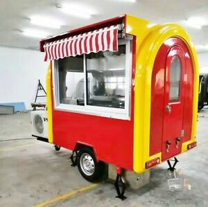 Mobile Food Cart Trailer made To Order Stainless Steel Customized Food Truck