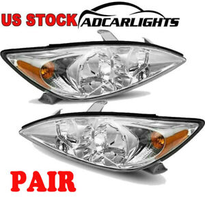 Fit For 2002 2004 Toyota camry Headlights Assembly Clear Reflector Letf right