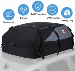 20 Cubic Car Top Carrier Feet Waterproof Cargo Rooftop Bag Box Storage Luggage