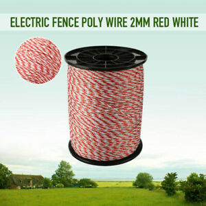 500m Roll Polywire Electric Fence Rope Stainless Steel Fencing Poly Wire