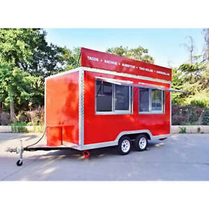 Box Mobile Food Cart Trailer made To Order Stainless Steel Custom Food Truck