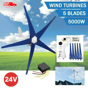 5 Blades 5000w Wind Turbine Generator Unit Dc 48v With Power Charge Controller