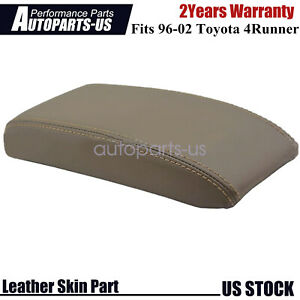 Fits 1996 2002 Toyota 4runner Leather Center Console Lid Armrest Cover Dark Tan