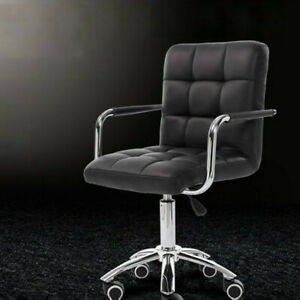 Executive Home Office Chair Pu Leather Computer Desk Task Gas lift Swivel Black