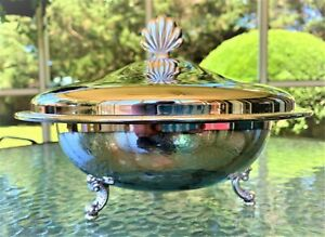 Oneida Jefferson Silver Plate Covered Casserole Dish With Lid