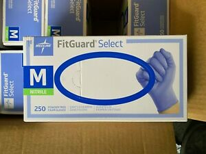 Nitrile Gloves Powder Free Size Xl l m s 300ct Medline Fit Guard Exam Grade Blue