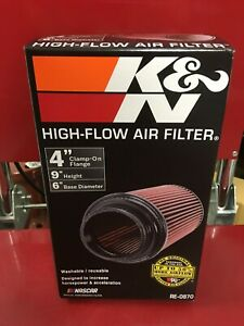 K N 4 Flange Inlet Universal Performance Conical Air Filter Re 0870